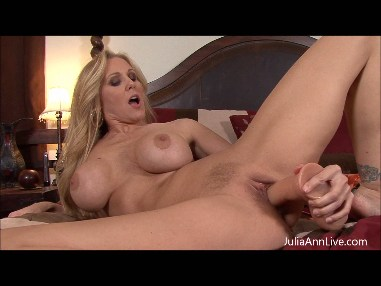 JULIA ANN IS HOT AND HORNY FOR HER DILDO from JuliaAnnLive.com