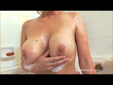 JULIA ANN SOAPS UP HER TITS! from JuliaAnnLive.com