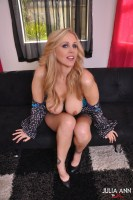 JULIA ANN SHOWS OFF HER NIPPLE CLAMPS from JuliaAnnLive.com