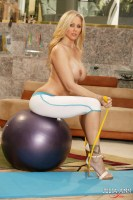 JULIA ANN  SHOWS OFF HER BIG TITS IN YOGA PANTS! from JuliaAnnLive.com